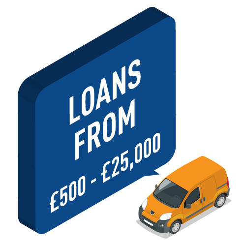Loans from £500 to £25,000