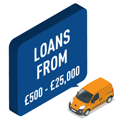 Loans from £500 - £25,000