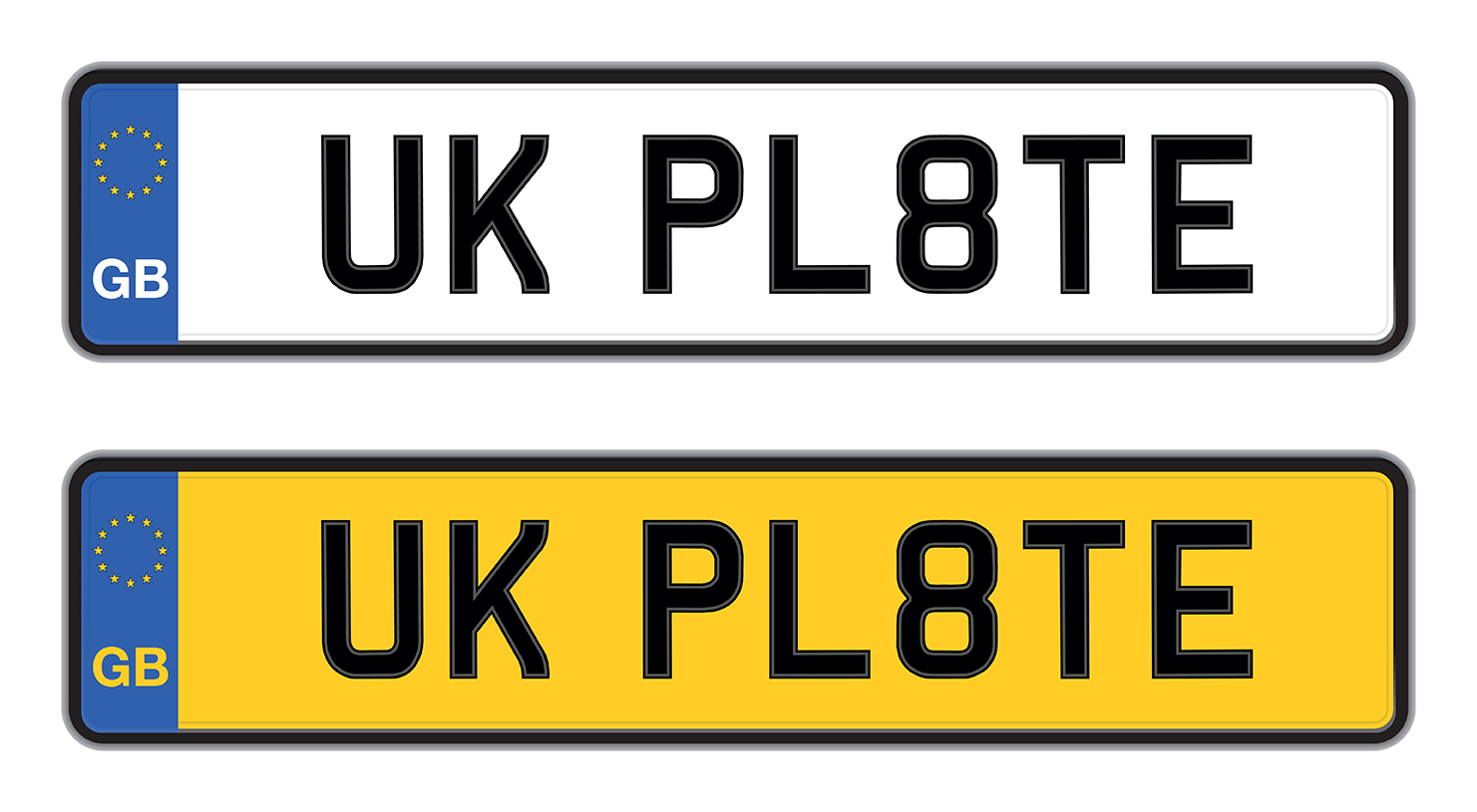 Car registration plates uk